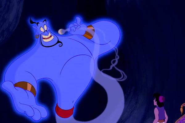 O Gênio do clássico Aladdin (1992), dublado pelo ator Robin Williams (Foto: Reprodução)