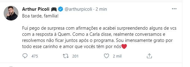 Arthur Picoli (Foto: Reprodução/Twitter)