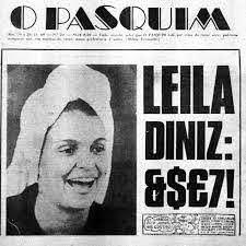 Leila Diniz na capa de O Pasquim em 20 de novembro de 1969