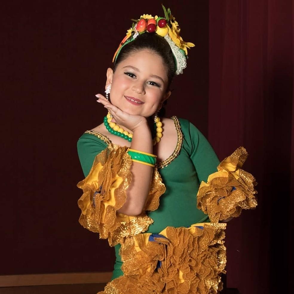 Milena Struck Miss Universo Infantil 2019 — Foto: Arquivo Pessoal