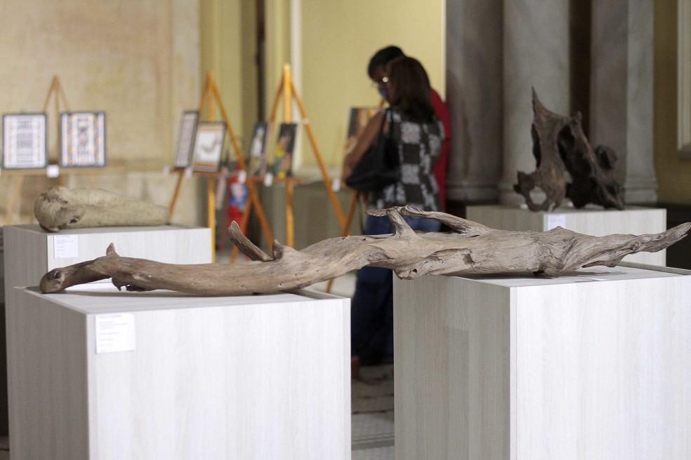Mostra de Arte Indígena realizada em Manaus — Foto: Divulgação