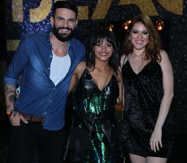 Os ex-BBBs Wagner, Gleici e Ana Clara (Foto: Daniel Pinheiro/AgNews)