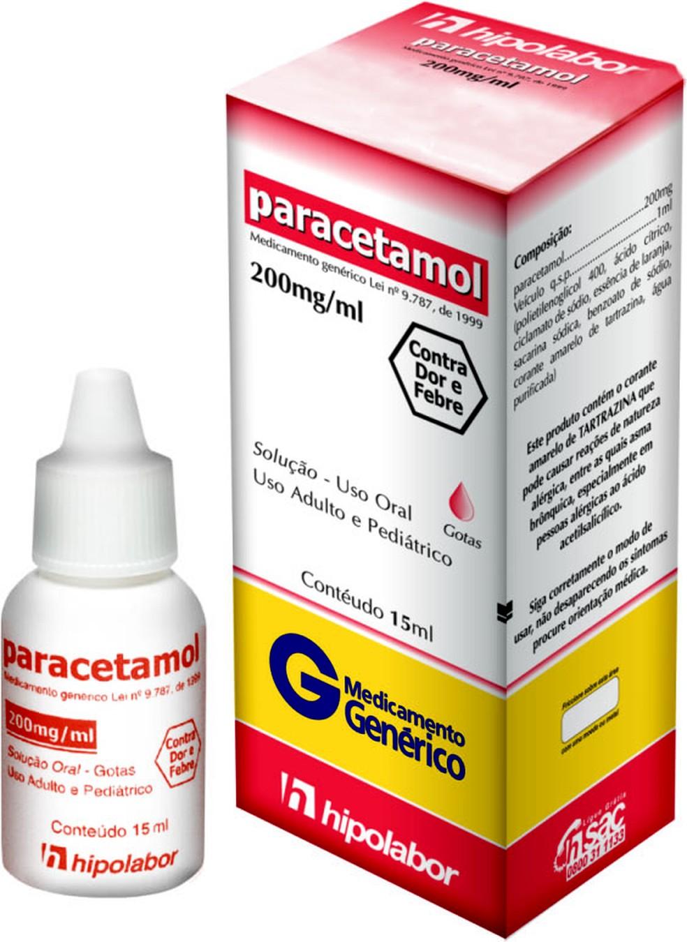 Lotes de paracetamol em gotas foram suspensos pela Anvisa (Foto: Divulgação)