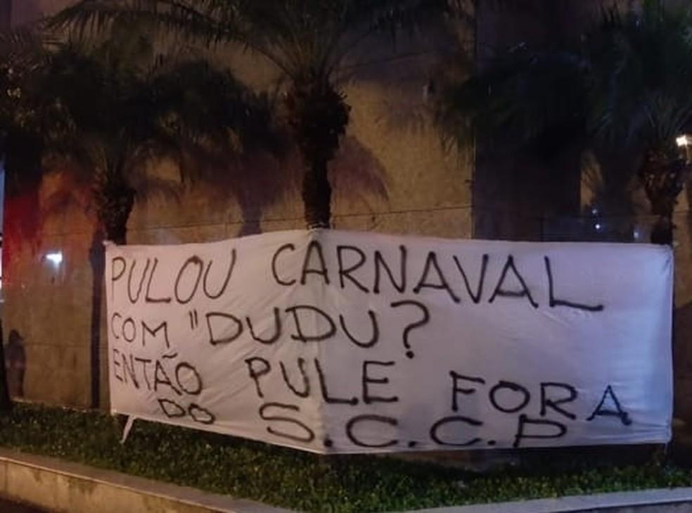 Protesto no Parque São Jorge — Foto: Reprodução