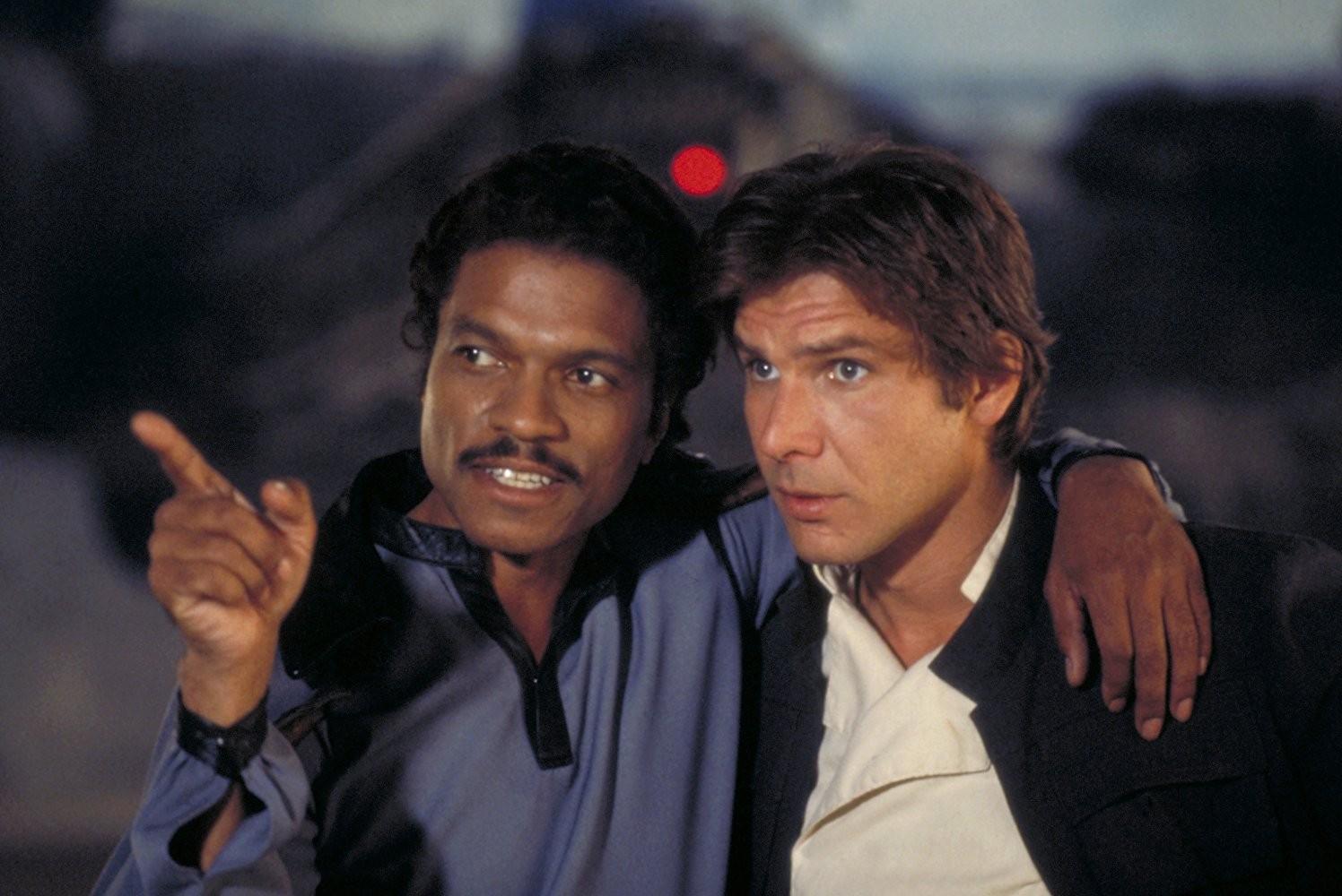 Billy Dee Williams e Harrison Ford em 'O Império Contra-Ataca' (1980) (Foto: Divulgação)