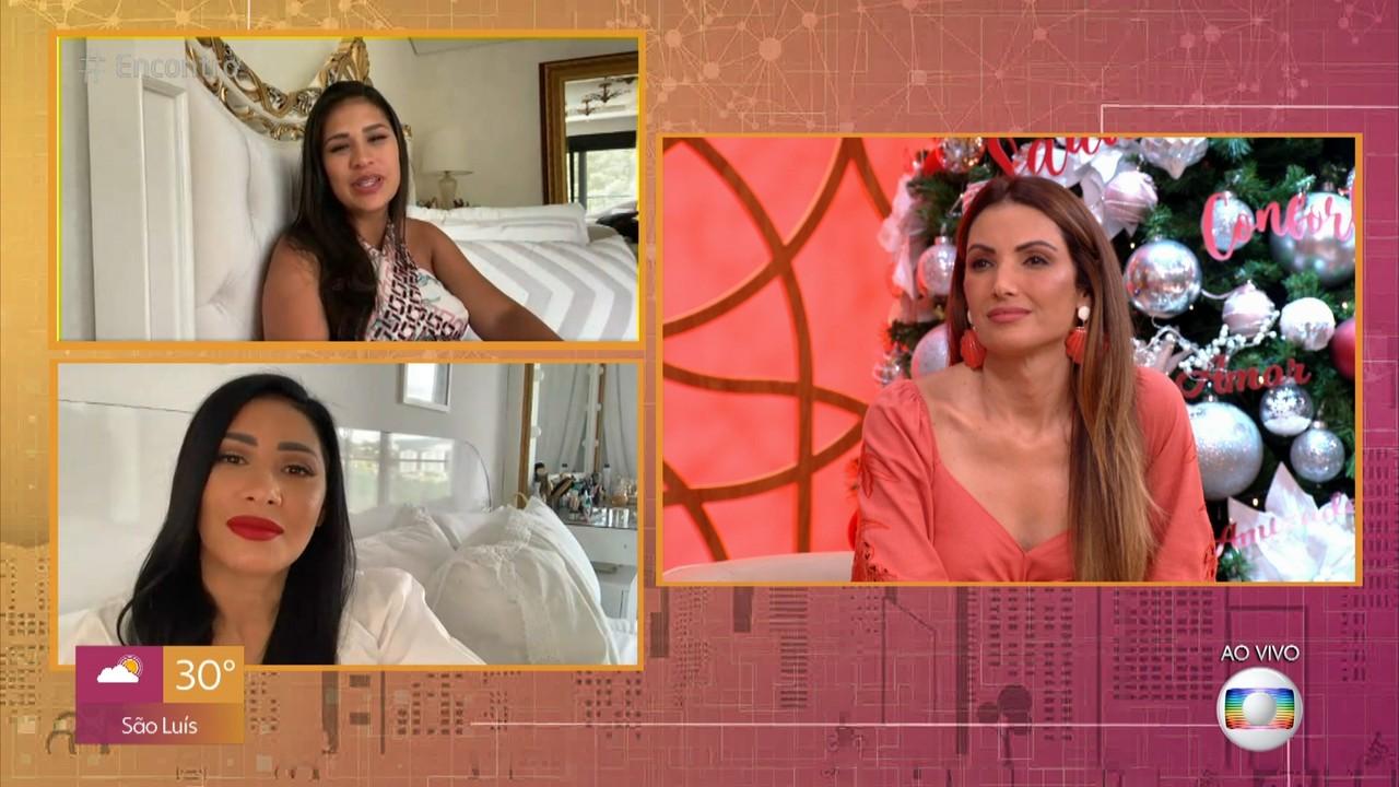Simone e Simaria desejam força a Fátima Bernardes