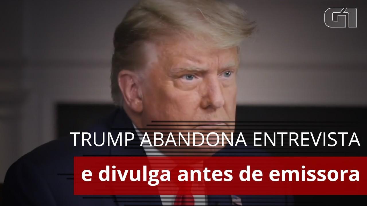 Trump cumpre ameaça, 'fura' TV e divulga entrevista antes da exibição