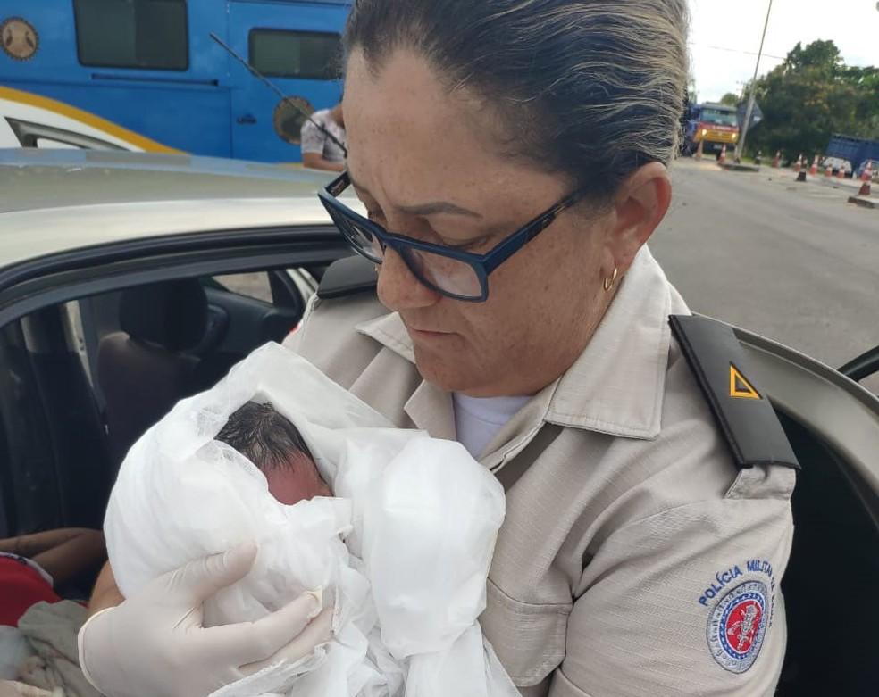 Caso ocorreu na BA-001, na altura do posto da Polícia Rodoviária Estadual (PRE), em Barra Grande, na Ilha de Itaparica, na manhã desta terça-feira (21).  — Foto: Arquivo Pessoal