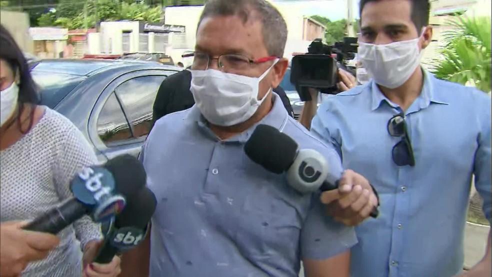 Vereador Flávio do Fórum foi preso na Operação Rateio — Foto: Reprodução/TV Globo