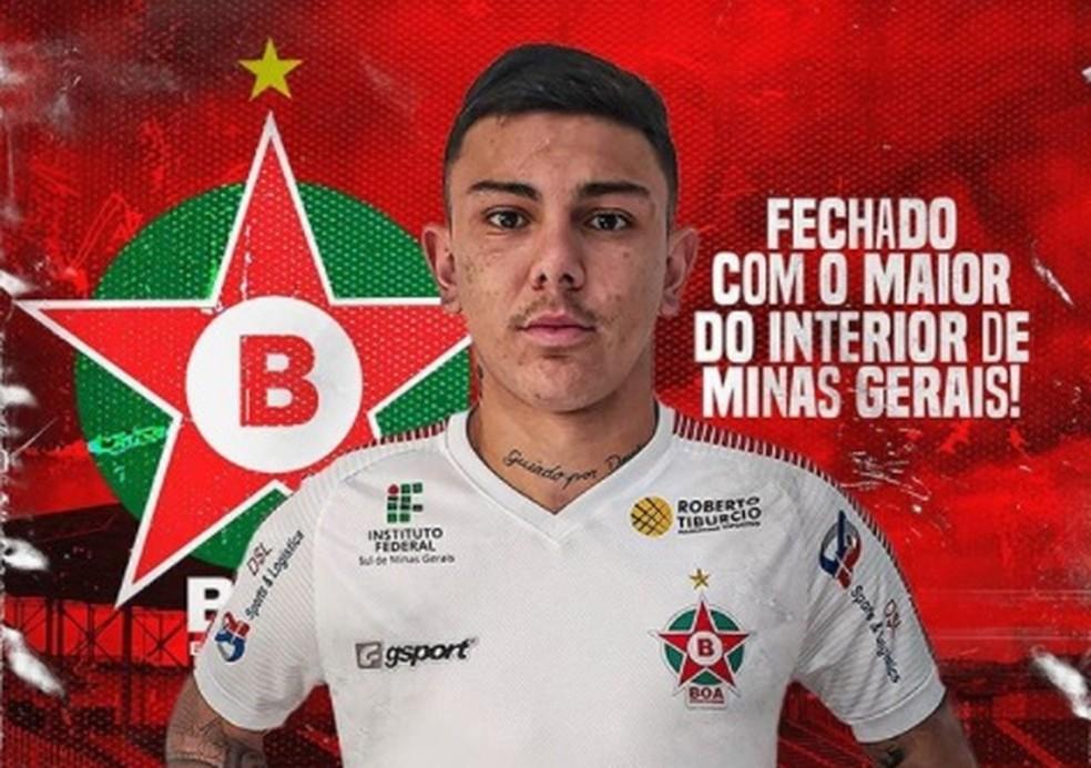 Felippe Borges passou o último semestre no Boa — Foto: Divulgação/Boa Esporte