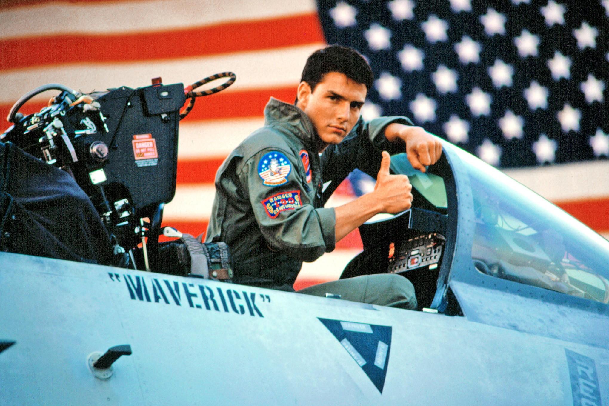Tom Cruise em Top Gun (1986) (Foto: Divulgação)