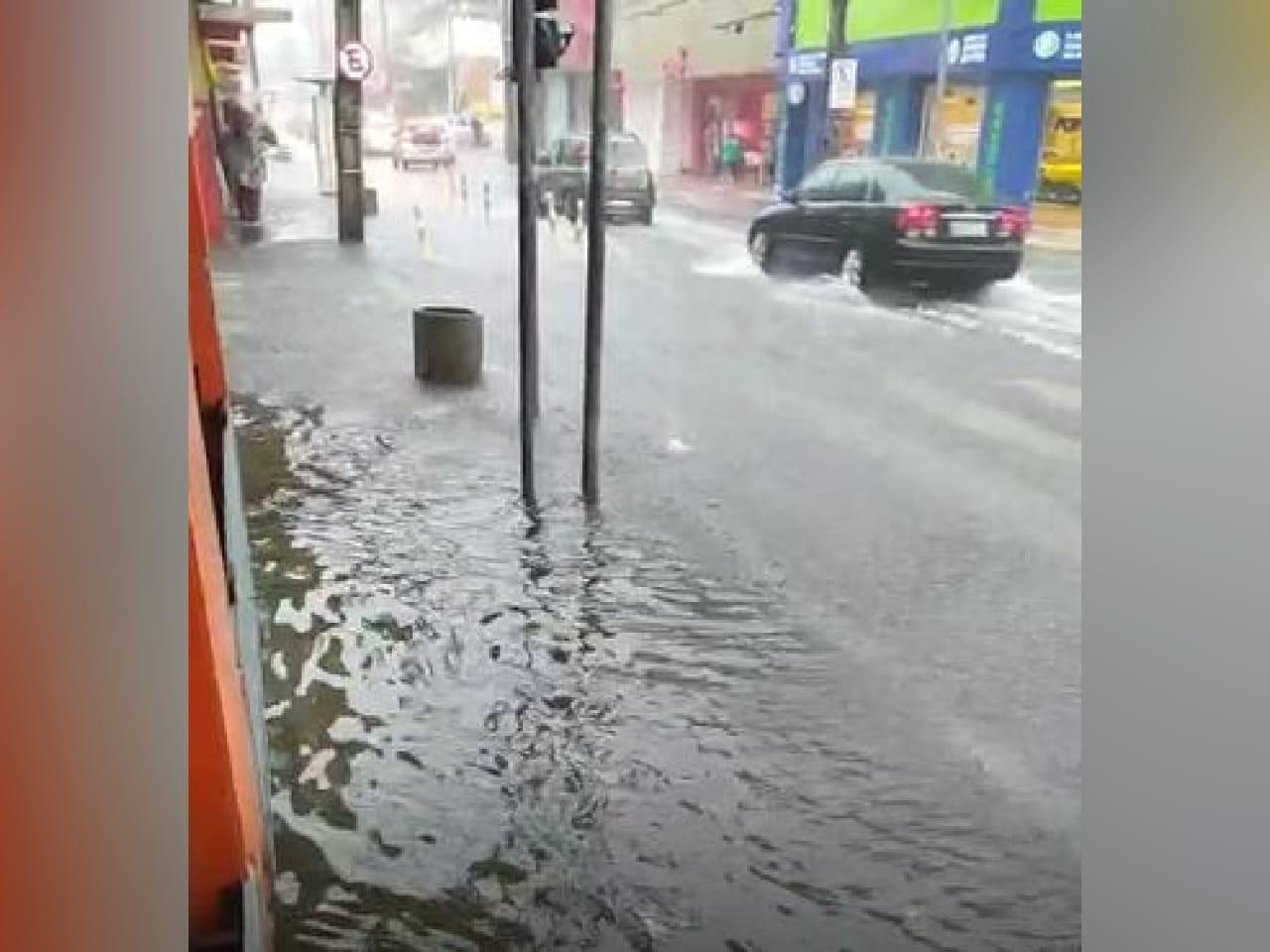 Ruas ficam alagadas e árvores caem no 3º dia de chuva forte em Fortaleza