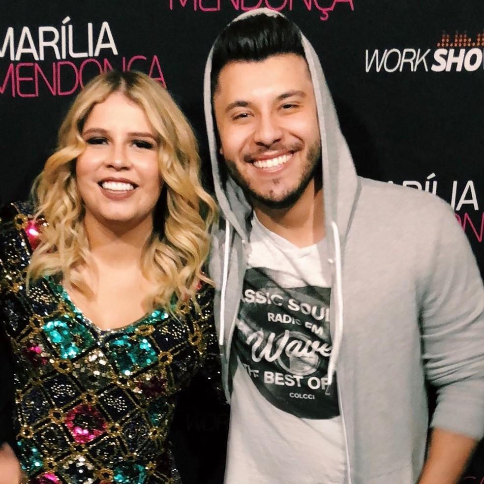 Uma das fotos que Murilo Huff postou no dia do aniversário de Marília Mendonça — Foto: Reprodução/Instagram/MuriloHuff