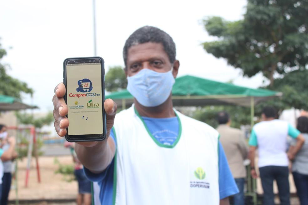O Compras Coop-Pa no Pará conectado diretamente o consumidor final a agricultores familiares do estado. — Foto: Divulgação
