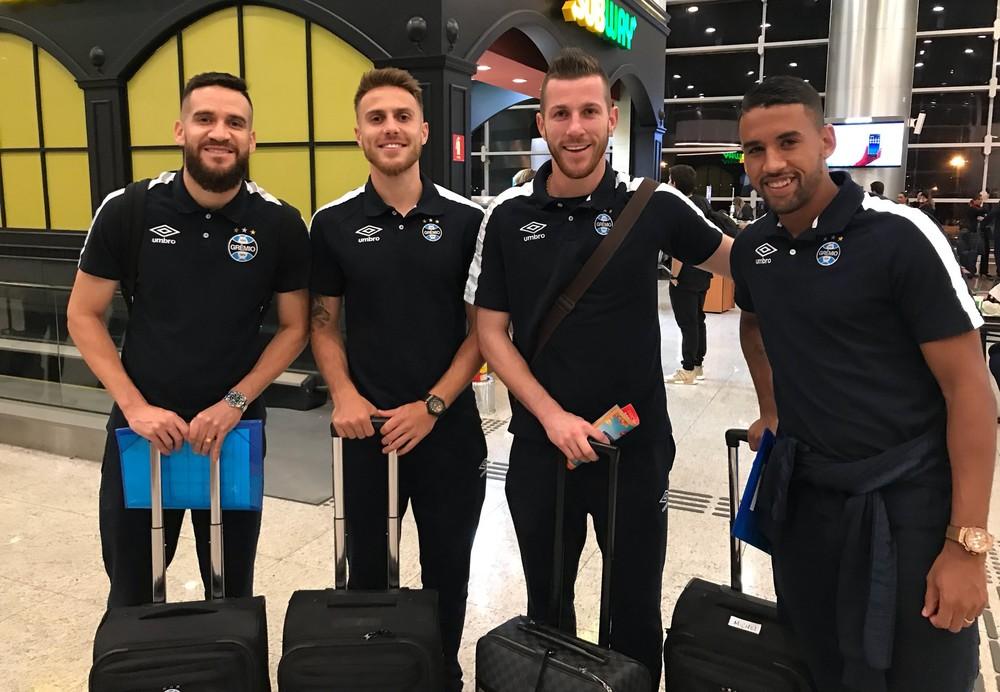 Segundo grupo da delegação do Grêmio embarca para o Mundial de Clubes