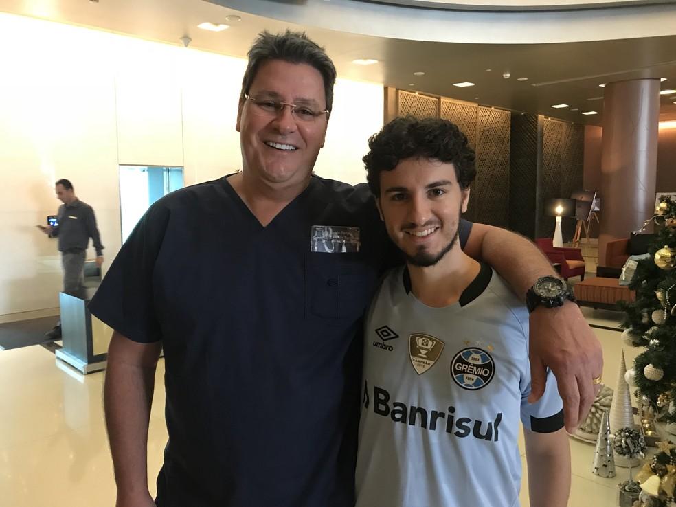 Ricardo Ferla é cônsul do Grêmio nos Emirados Árabes (Foto: Eduardo Moura)
