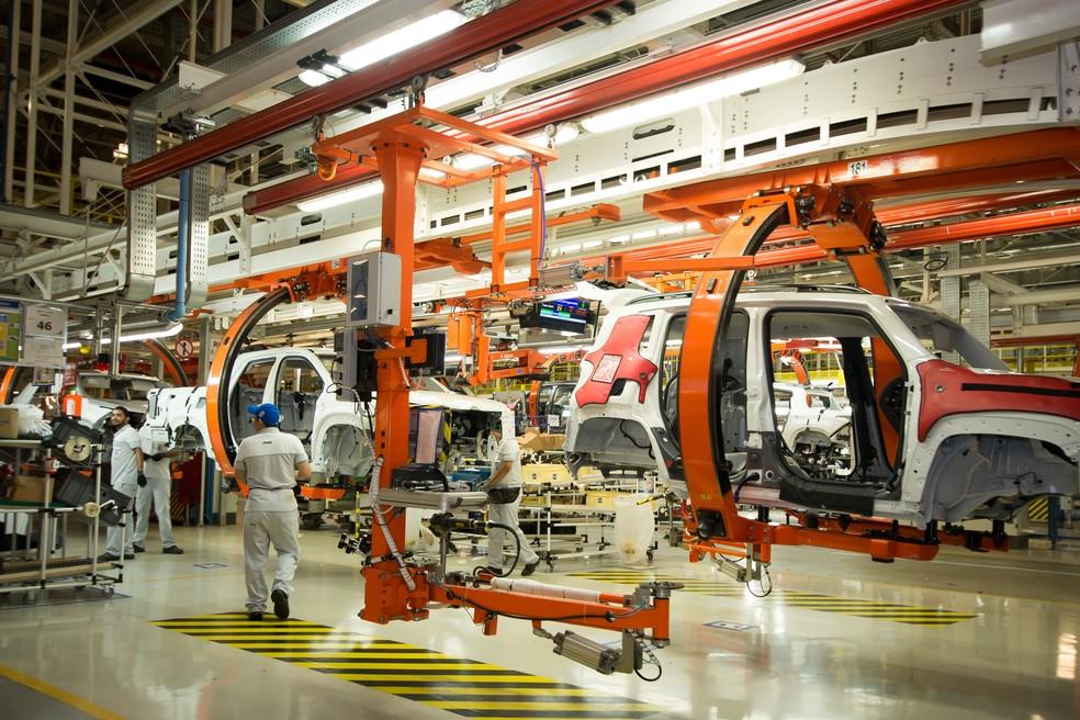 Fábrica da Jeep, em Goiana: FCA, dona da Jeep, vai deixar de enviar 20 mil carros para a Argentina em 2019 — Foto: Inês Campelo / Jeep / Divulgação
