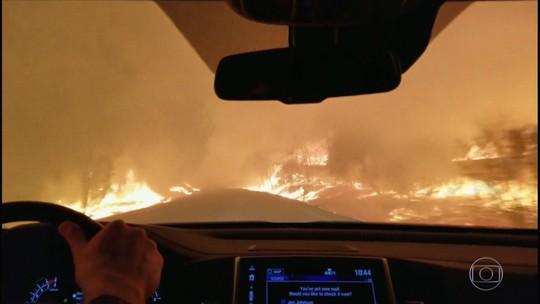 Entre temperaturas extremas, o homem duelou contra fogo e gelo