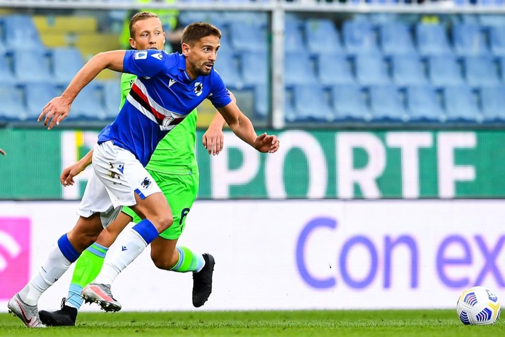 Gastón Ramírez e Lucas Leiva em ação — Foto: Divulgação/Sampdoria