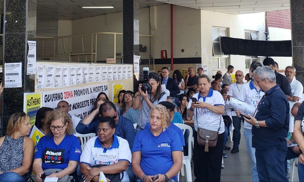 Servidores, usuários e moradores do entorno participam de audiência nesta segunda-feira (16). — Foto: Raquel Freitas/G1