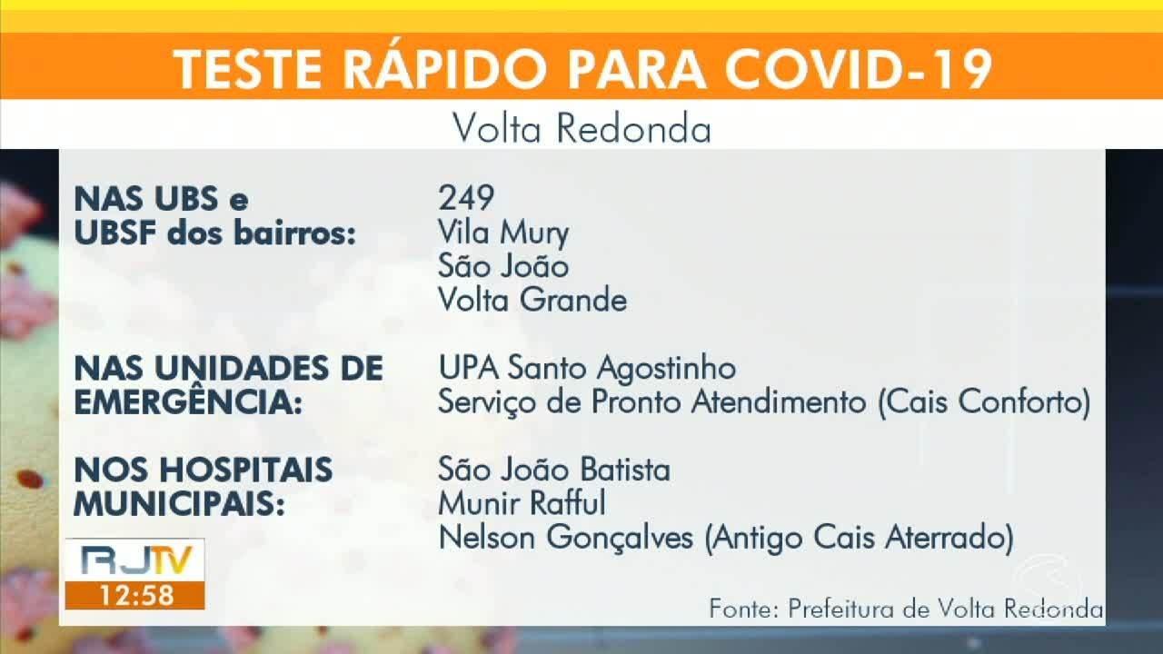 Volta Redonda começa a utilizar testes de antígeno para diagnóstico da Covid-19