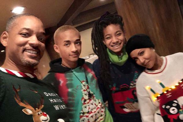 Will, Jaden, Jada e Willow Smith (Foto: Instagram)