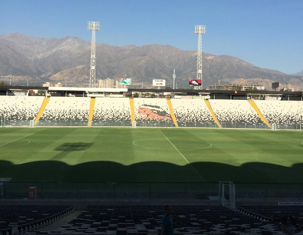 Estádio Monumental David Arellano, em Santiago (Foto: Fernando Martins Y Miguel)
