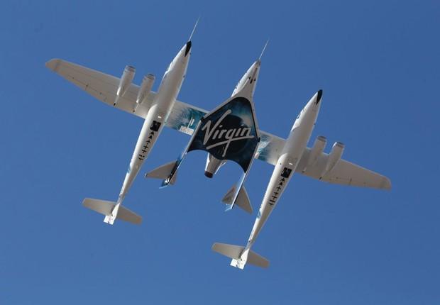 VSS Unity, da Virgin Galactic (Foto: Reprodução Twitter)