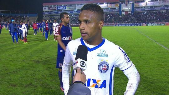 Élber lamenta nova derrota do Bahia fora de casa e pede desculpas para torcida