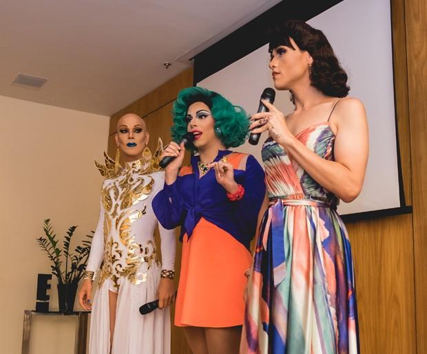 Ikaro Kadoshi, Penelopy Jean e Rita Von Hunty (Foto: Filipa Andreia/Divulgação)