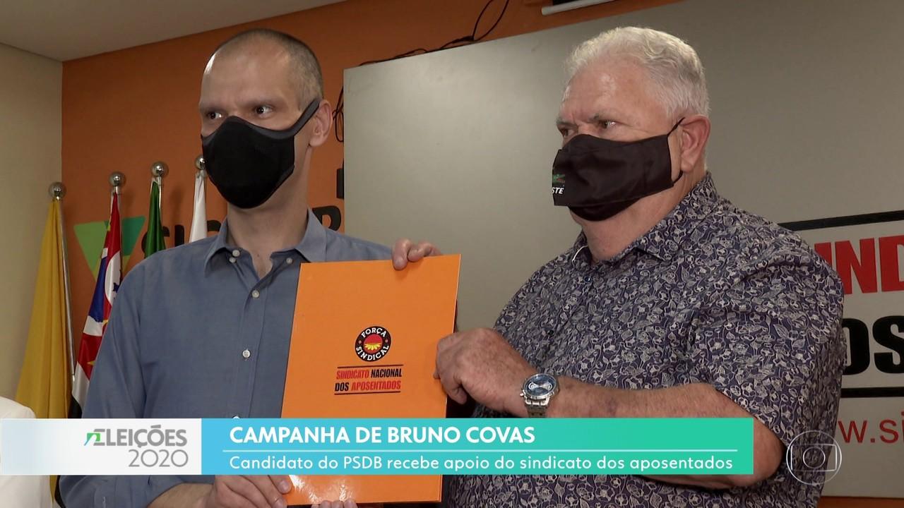 Bruno Covas visitou o Sindicato Nacional dos Aposentados