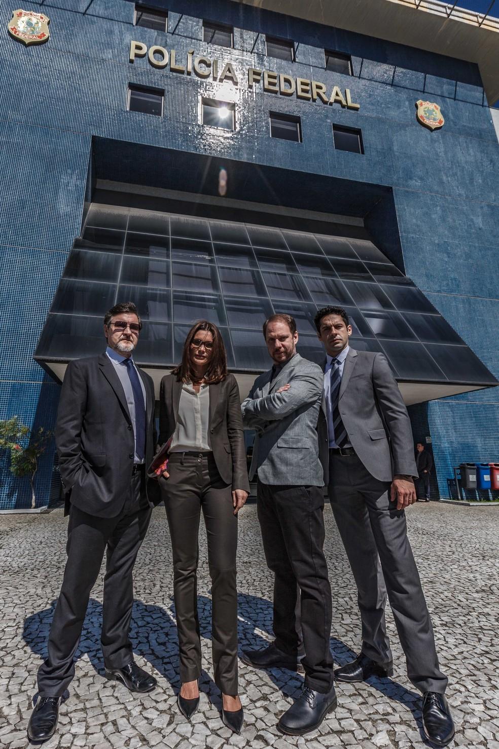 Atores que interpretam os delegados do filme 'Polícia Federal - A Lei É Para Todos' (Foto: Divulgação)