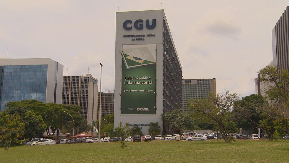 Fachada da sede da CGU, em Brasília — Foto: Reprodução/TV Globo