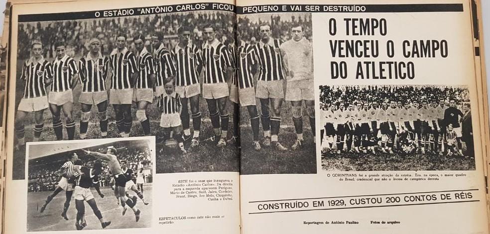 Reportagem sobre o Estádio Antônio Carlos e sua época menos áurea — Foto: Reprodução