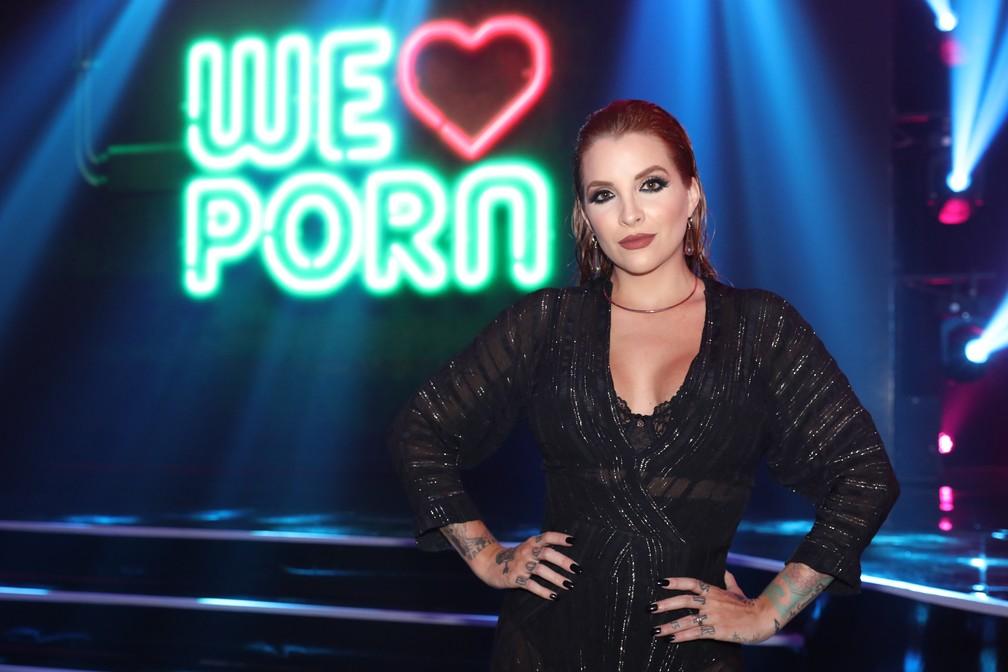 Clara Aguilar chega ao Prêmio Sexy Hot 2018 — Foto: Celso Tavares/G1