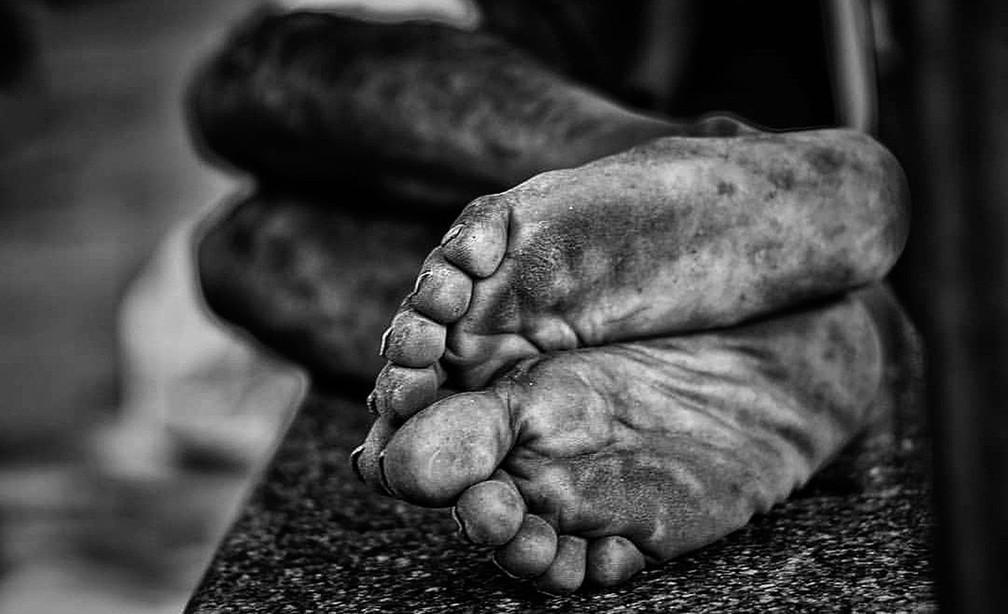 Entre personagens que forógrafo paraibano conheceu estão pessoas em situação de rua — Foto: Renan Carlos/Arquivo Pessoal