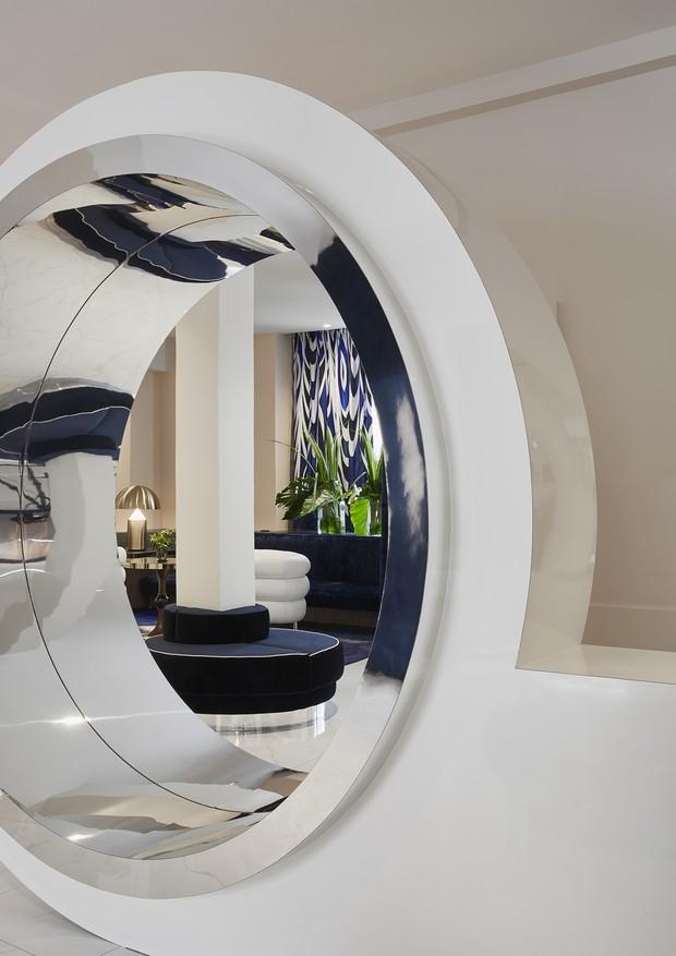 Lobby com visual novo do hotel Bel Ami, em Paris (Foto: Divulgação)