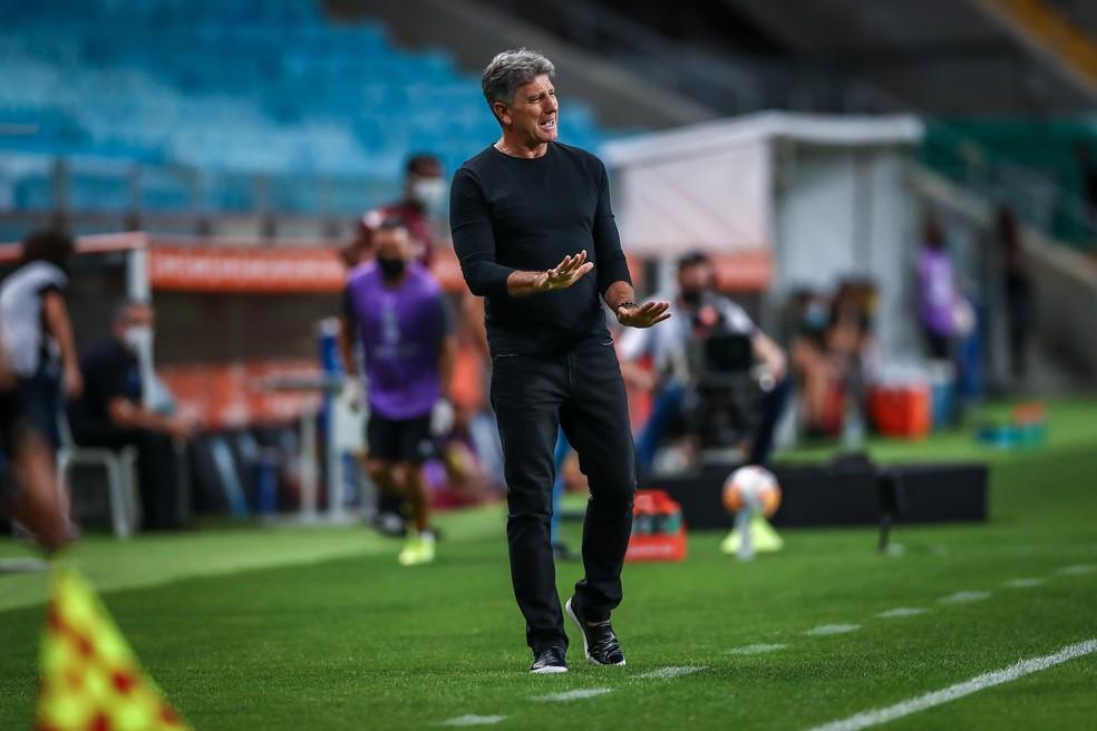 Renato Portaluppi está novamente nas quartas de final da Libertadores — Foto: Lucas Uebel/Grêmio FBPA