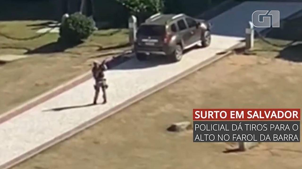 PM surta e dá tiros no Farol da Barra, em Salvador