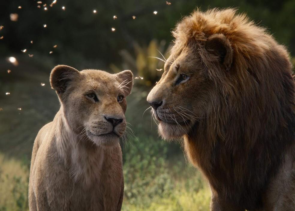 Nala e Simba em 'O Rei Leão' — Foto: Divulgação