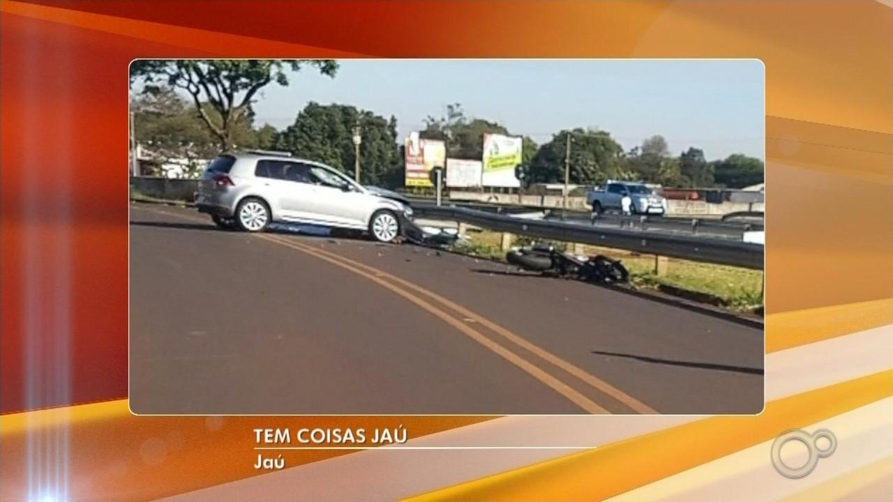 Jovem morre após acidente entre carro e moto em avenida de Jaú; motorista fugiu