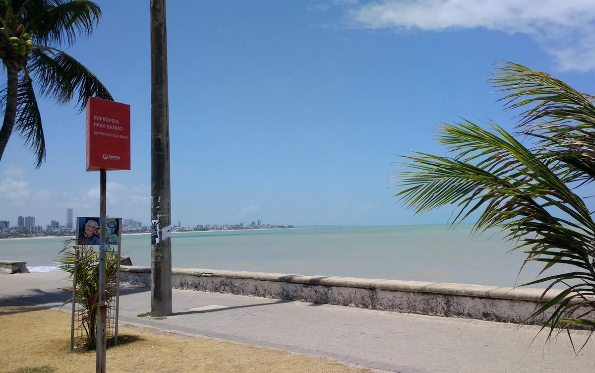 Cinco praias estão impróprias para banho na Paraíba neste fim de semana