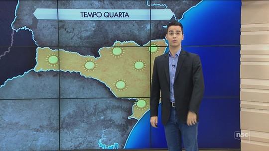 Três cidades de SC registram temperaturas negativas; serra tem mínima de -3,8°C e formação de geada
