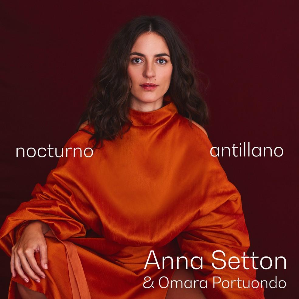 Capa do single 'Nocturno antillano', de Anna Setton & Omara Portuondo — Foto: Divulgação