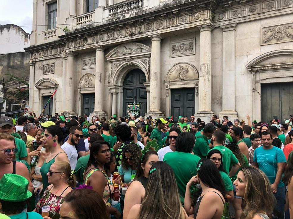 Além do baile carnavalesco, o bloco Amantes de Glória realizará prévia de rua e desfile oficial  — Foto: Marina Meireles/G1