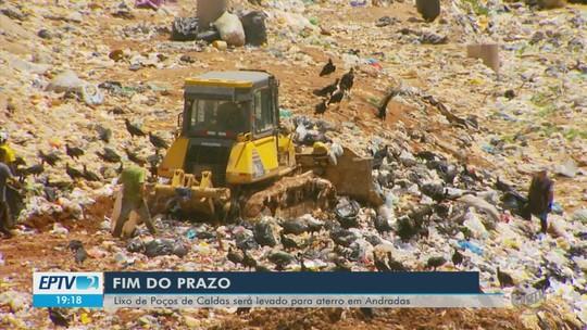 Após fim de prazo, lixo de Poços de Caldas será levado para aterro sanitário em Andradas, MG