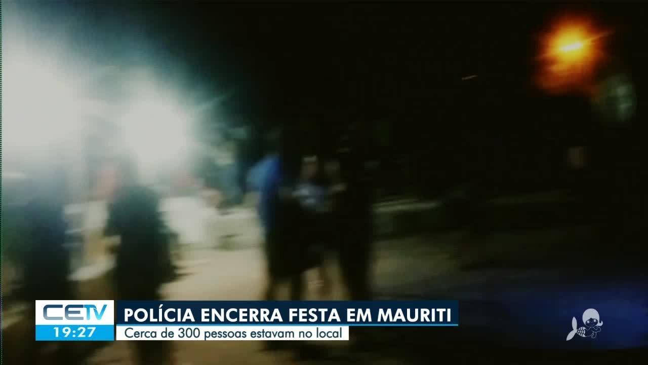 Polícia encerra festa em Mauriti com mais de 300 pessoas