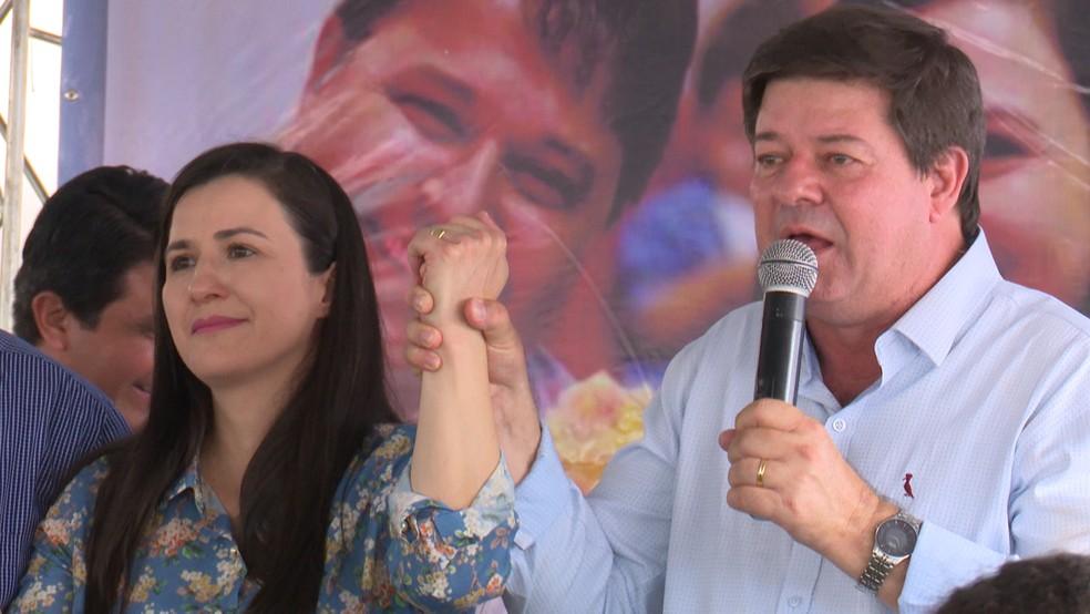 Rosani Donadon e Darci Cerutti vão disputar eleição em junho, na cidade de Vilhena (Foto: José Manoel/Rede Amazônica)