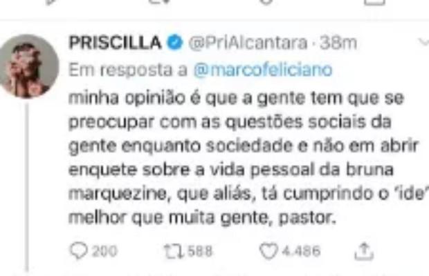 Marco Feliciano questiona viagem de Bruna Marquezine e Priscilla Alcantara à África (Foto: Twitter/Reprodução)