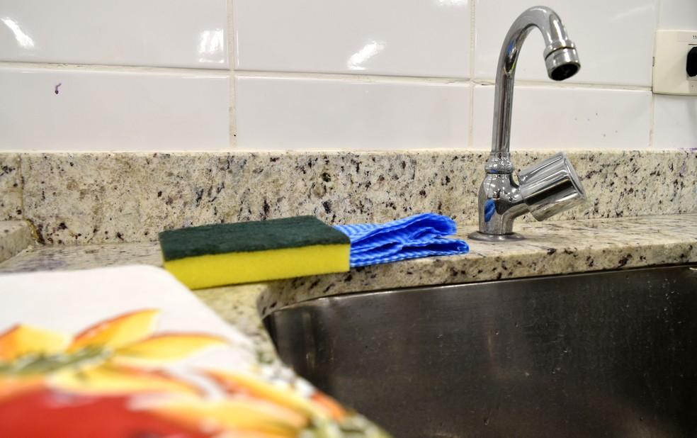 Pano de prato, esponja e paninho de pia concentram fungos e bactérias se não forem higienizados, segundo pesquisa de Campinas. — Foto: Patrícia Teixeira/G1